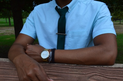 I kept the accessories simple and to a minimum, making the tie the main focal point in this look